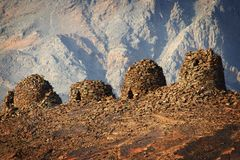 Oman: Beehive tombs Stock Images