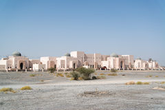 Oman buildings. Building situated in desert country Oman near the capital city Muscat stock photos