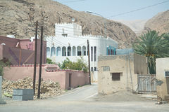 Oman buildings. Building situated in desert country Oman near the capital city Muscat stock photo