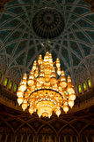 In oman  and the  chandelier Royalty Free Stock Photo