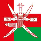 Oman coat of arm and flag Royalty Free Stock Photos