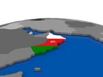 Oman on 3D globe Royalty Free Stock Image