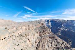 in Oman der alte Berg Stockfotografie