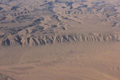 Oman desert, aereal view. Royalty Free Stock Images
