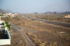 Oman desert land. Desert land in Oman near Muscat stock image