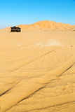 In oman  desert tent of berber people. Empty quarter and nomad tent of berber people in oman the old desert Royalty Free Stock Image