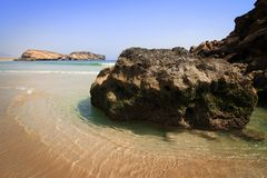 Oman: Deserted beach in Dhofar stock photo