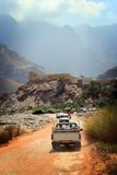 Oman: Driving in wadi stock image