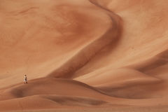 Oman: Empty quarter. Desert called Rub' Al Khali in Oman is one of the biggest sand deserts in the world Stock Photography