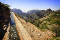 Oman: Falaj Royalty Free Stock Photography