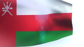 Oman flag blowing in the wind waving wave stock footage