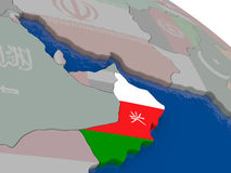 Oman with flag Stock Photo