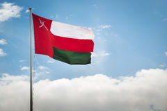 Oman flag. Image of the waving flag vom Oman Royalty Free Stock Photos