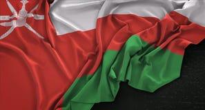 Oman Flag Wrinkled On Dark Background 3D Render Stock Images
