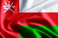 Oman-Flaggenillustration stock abbildung