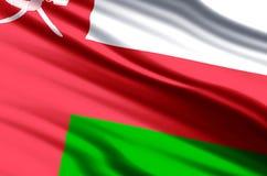 Oman-Flaggenillustration vektor abbildung