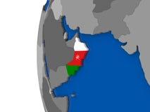Oman on globe Stock Photo