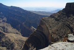 Oman Grand Canyon Royalty Free Stock Image