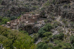 Oman historic buildings. A shot of ancient architecture taken in mountanous area in Oman Royalty Free Stock Photos