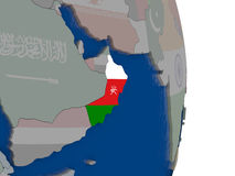 Oman with its flag Royalty Free Stock Photo