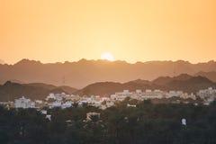 Oman krajobraz przy zmierzchem obrazy royalty free