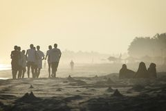 Oman: life in Salalah beach stock images