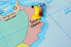 Oman map Stock Photography