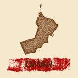 Oman martwił mapę Obraz Stock