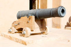 in oman muscat  castle and Royalty Free Stock Photos