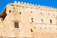 in oman    muscat    the   old defensive  fort battlesment sky a Stock Image