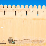 in oman    muscat    the   old  defensive Stock Image