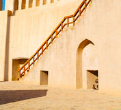 in oman    muscat    the   old defensive  fort battlesment sky a Stock Photos