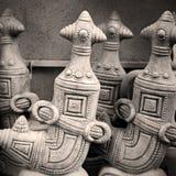 in Oman-Muskatellertraube der alte Tonwarendolch Stockfotos