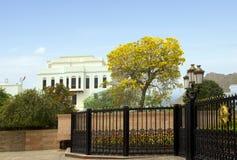 oman muskatellertraube Einer der sechs Wohnsitze Sultan Qaboos Lizenzfreie Stockfotografie