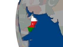 Oman with national flag Stock Image