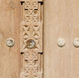 in oman old antique door texture and abstract background line Stock Photos