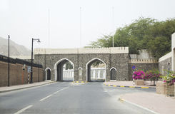 Oman. Old city gate of Bab Waldgut (XVI century) Stock Photos