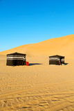 In oman the old desert empty quarter. Empty quarter and nomad tent of berber people in oman the old desert Stock Image