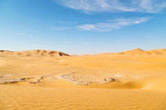 In oman old desert  rub al khali the empty  quarter and outdoor Stock Photo