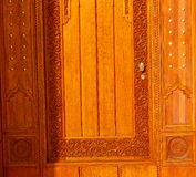 In   oman old wooden  door Royalty Free Stock Photos