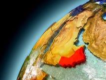 Oman from orbit of model Earth Stock Image