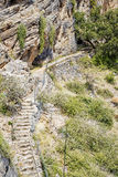 Oman path Saiq Plateau Stock Photos