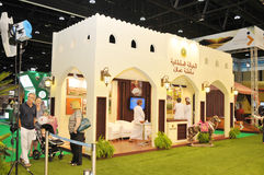 Oman Pavilion at Abu Dhabi International Hunting and Equestrian Exhibition 2013 stock photos