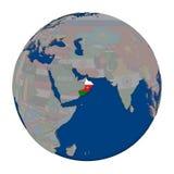 Oman on political globe Stock Photography