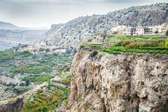Oman Saiq platå Arkivfoto