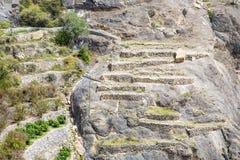 Oman Saiq platå Arkivfoton