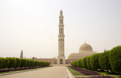 Oman. Sultan Qaboos Grand mosque. The great mosque of Sultan Qaboos in Muscat - the third biggest mosque in the world Royalty Free Stock Images