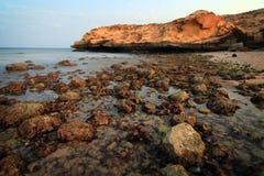 Oman: Tiwi beach after sunset Stock Image