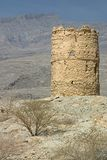 Oman Tower. An ancient tower in the wilds of Oman.  Near Bahla Royalty Free Stock Photography
