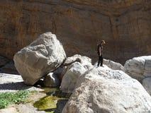 Oman Trecking Stock Afbeeldingen